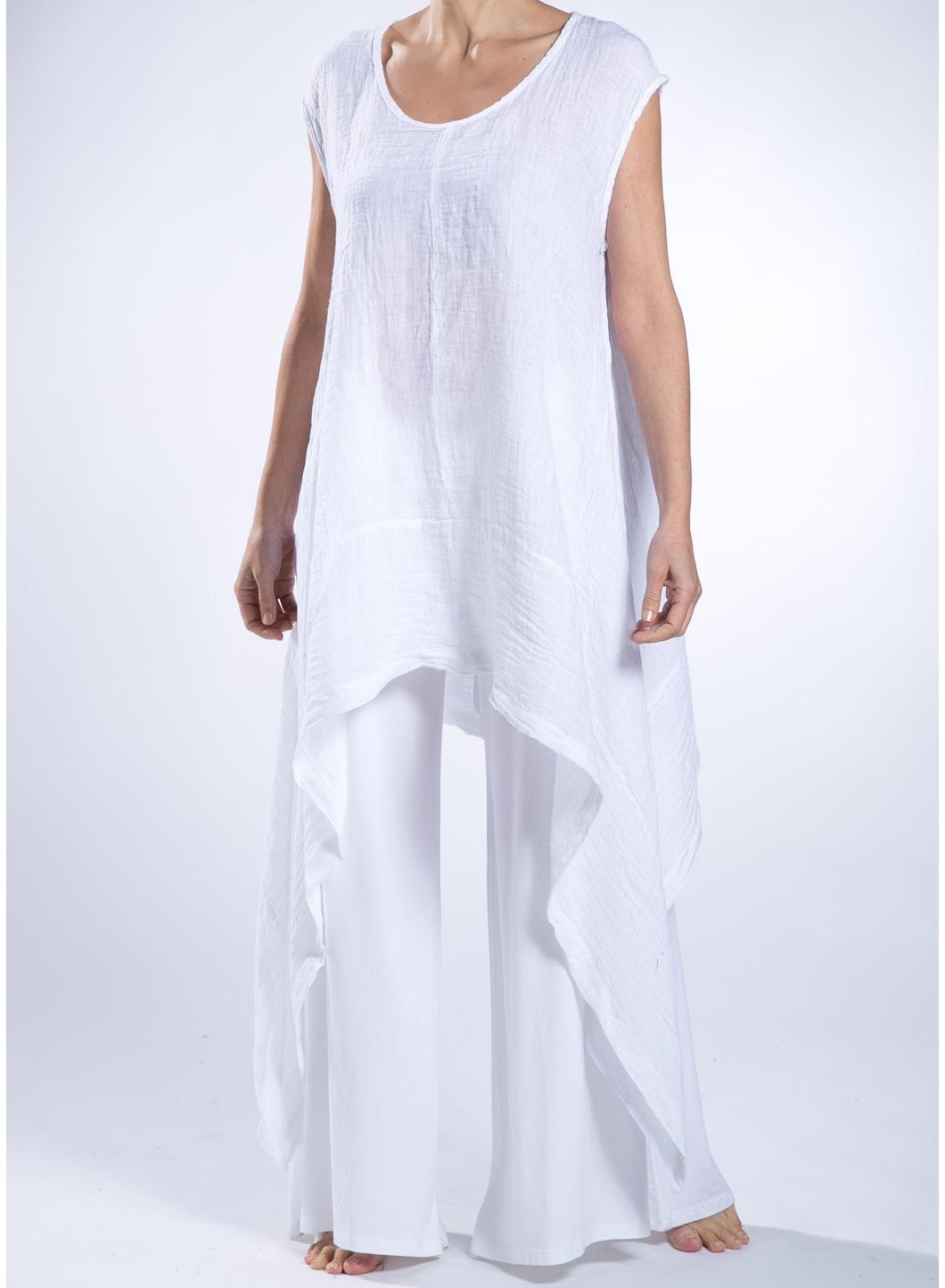 Womens Linen Sleeveless Blouse Collar Blouses