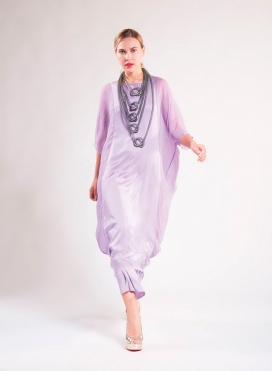 "Dress ""Kompinezon"" 100% silk"