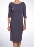 Dress Boatneck midi 3/4 sleeves wool/viscose