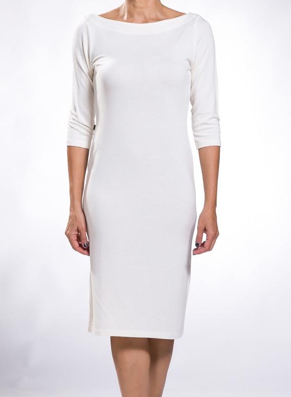 Φορεμα Boatneck midi 3/4 μανίκια wool/viscose