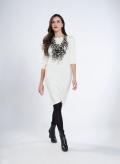 Dress Boatneck Midi 3/4 Sleeves Wool Viscose
