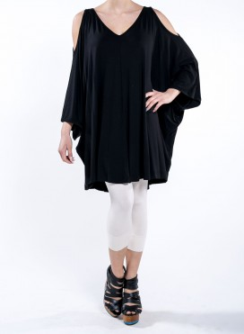 Blouse Cold Shoulders Long Elastic