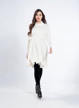 Φόρεμα Σεμιζιέ Midi Wool Viscose