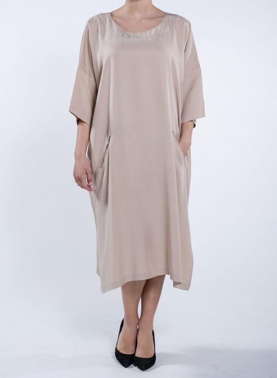 Φόρεμα Bateau Tencel