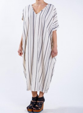 Kaftan V neck Square loom/stripes