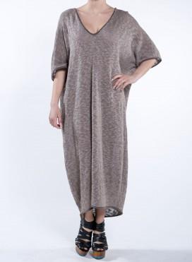 Φόρεμα V Τετράγωνο Πλεχτό