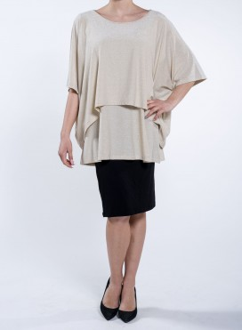 Blouse Square Double Layer Lurex