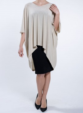 Blouse High Low Square Long Lurex