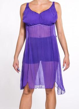 Φόρεμα κομπινεζόν 100% silk