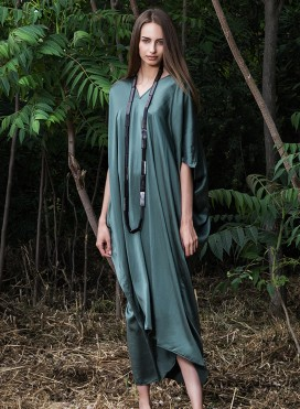 Kaftan Trigono satin 100% Silk