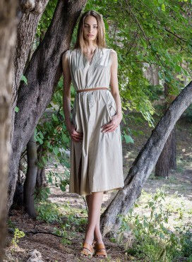 Φόρεμα Right Pleat Sleeveless Evita