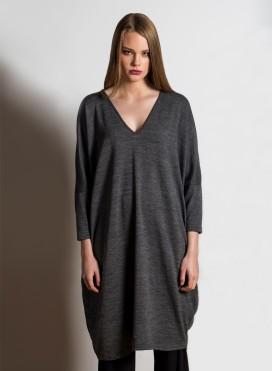 Φόρεμα V τετράγωνο acrylic