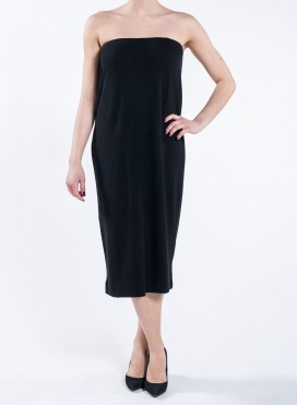 Dress Simple Strapless wool/viscoze