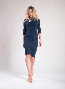 Dress Boatneck midi 3/4 sleeves elastic