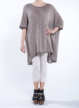 Blouse High Low Square Knitted