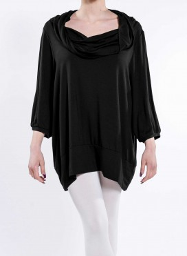 Blouse Vanessa Cowl Long Sleeves elastic