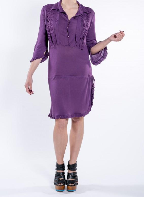 Φορεμα Φρου-Φρου Λινο/Visc Ελαστ.