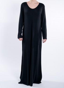 Φορεμα Fit Maxi μακρύ μανίκι wool/viscose
