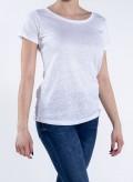 Blouse W Linen Scoop Neck T-shirt