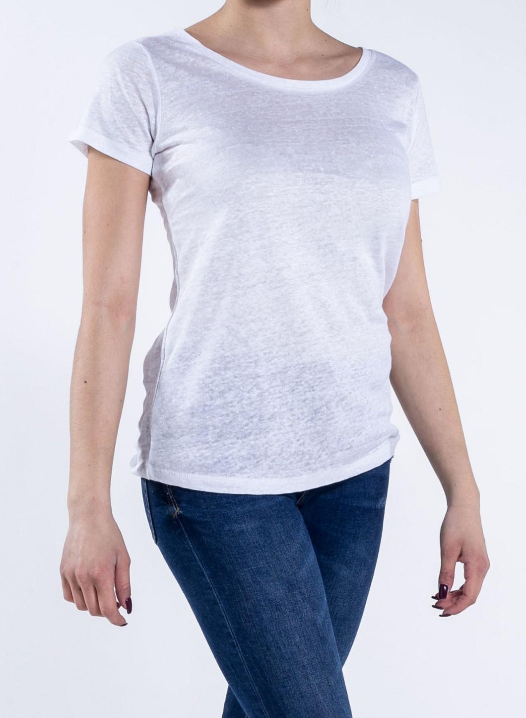Blouse w linen scoop neck t shirt for Scoop neck t shirt