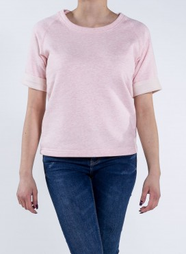 Blouse W Organic S/S Sweatshirt