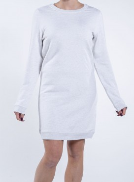 Dress Sheatshirt W Crew Neck Organic