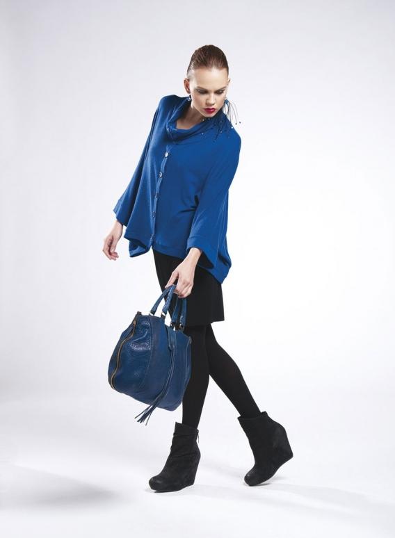 Jacket Tetragoni Short wool/viscose