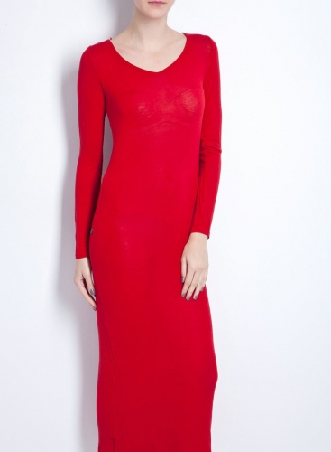 Dress Fit Maxi long sleeves wool/viscose