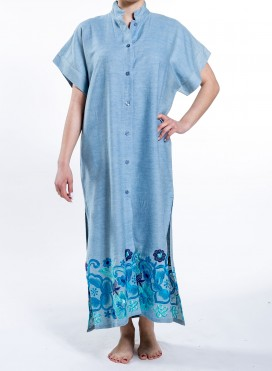 Φορεμα Tετραγωνο Semizie Jean/Embroidery