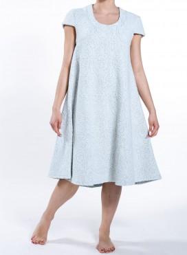 Φόρεμα Kristin cap sleeves ζακάρ