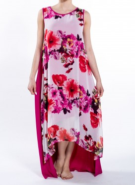 Dress High-Low Double Print