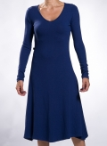 Dress Single Long Sleeves Wool/Viscose