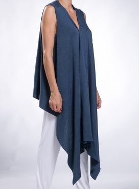 Jacket Wrap Sleeveless Wool/Viscose