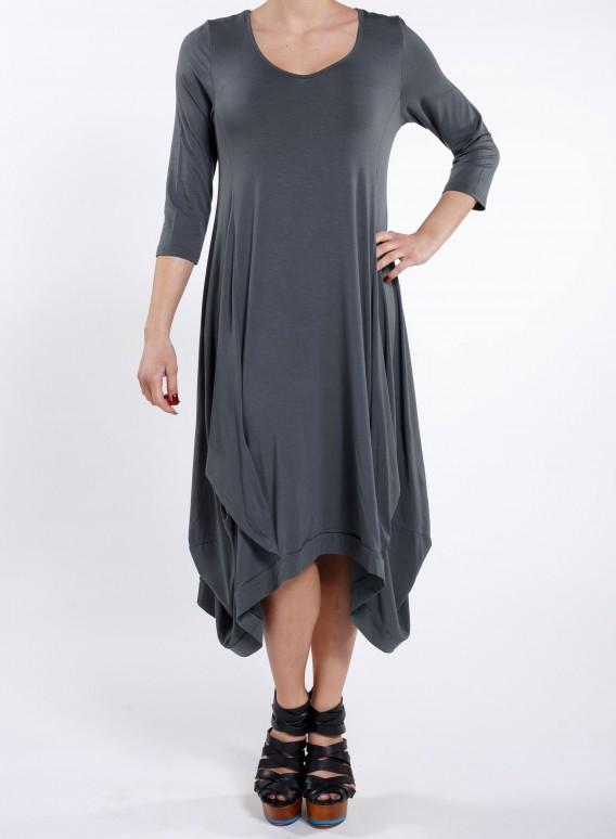 Φορεμα Hello 3/4 μανίκι sized ελαστικό