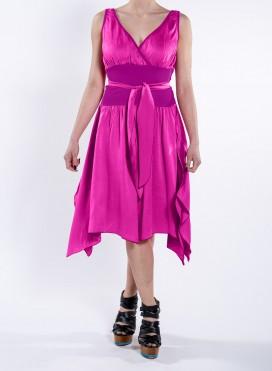 Dress Rip Baska Satin 100% Silk