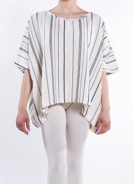 Μπλουζα Tετραγωνη Loom/Stripes