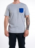 Heather Grey, Deep Royal Blue