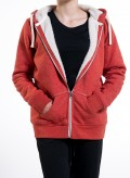 Jacket W Zipped Hoody With Sherpa Organic