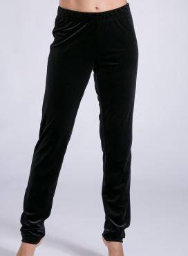 Pants Cigarette Zip Velvet