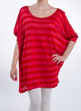 Blouse Square New Stripe 100% Visc (One In A Piece)