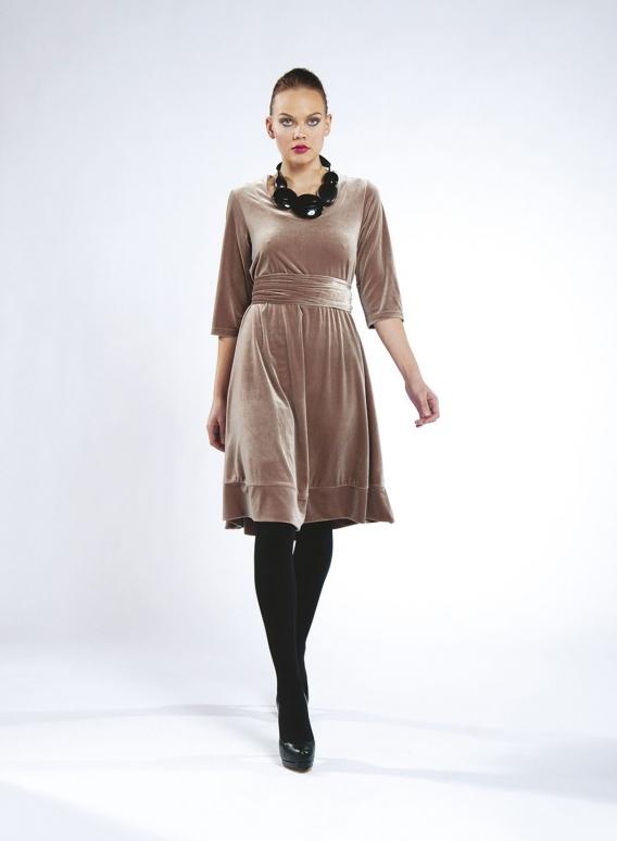 Φόρεμα Kristin Long βελούδο