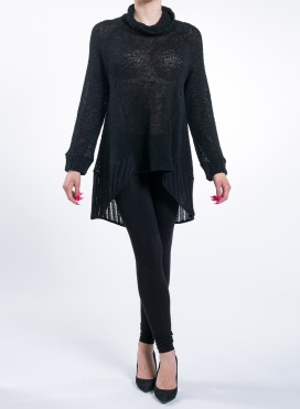 Blouse Tunik Knitted Black