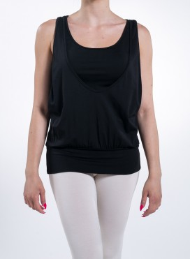 Blouse Tank Top Athletic Elastic