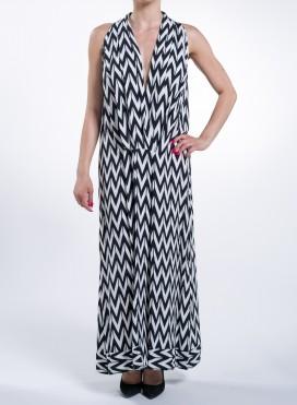 Dress Kare Black Print 100% Viscose