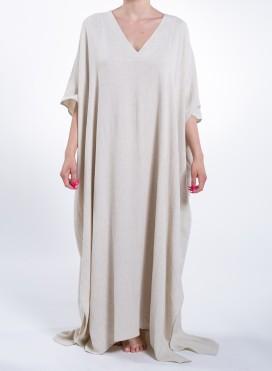 Dress Two V Maxi Longsleeves Pure