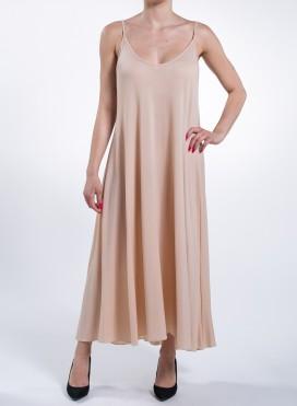 Φορεμα Asymmetric Tiranta Nude