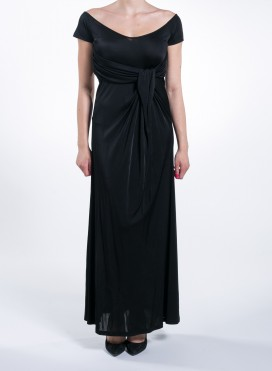 Dress Flash Belt Maxi Black