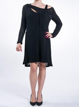 Φορεμα Knitted Double Black