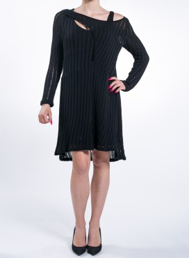 Dress Knitted Double Black