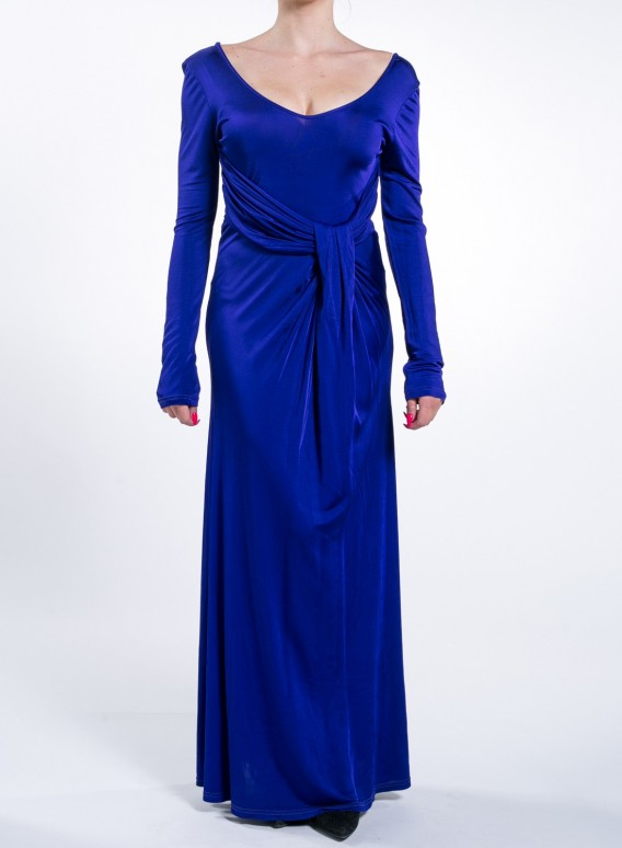 Φορεμα Belt Maxi Flash Blue Royal